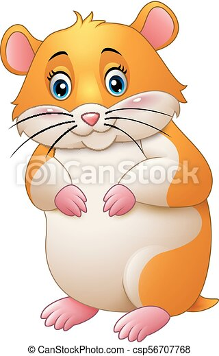 Cute hamster cartoon - csp56707768