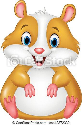 vector illustration of cute hamster cartoon