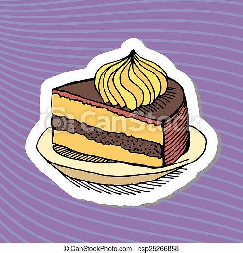 cute happy birthday cake candle - csp25266858