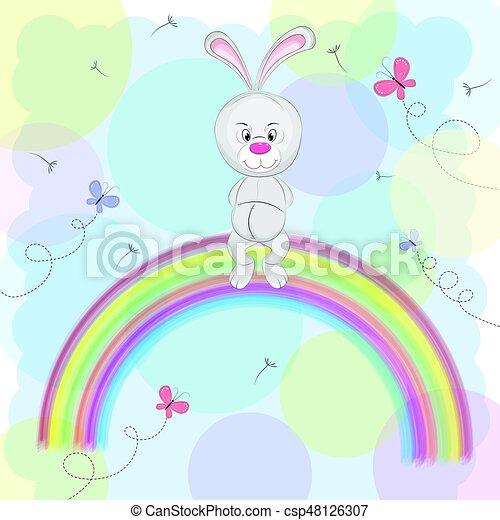 Cute happy rabbit - csp48126307