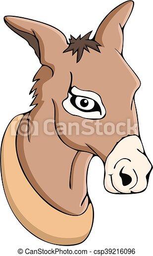 Cute head donkey - csp39216096