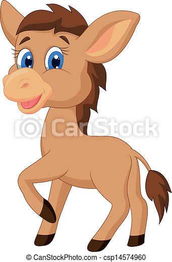 Cute horse cartoon  - csp14574960