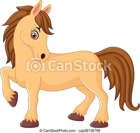 vector illustration of cute horse cartoon rh canstockphoto com Cute Animal Clip Art Cute Animal Clip Art