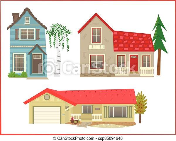 Cute Houses   Csp35894648