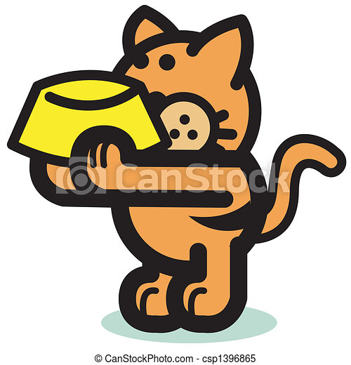 cute hungry cat holding food bowl cute hungry cat holding food bowl clip art cartoon https www canstockphoto com cute hungry cat holding food bowl 1396865 html
