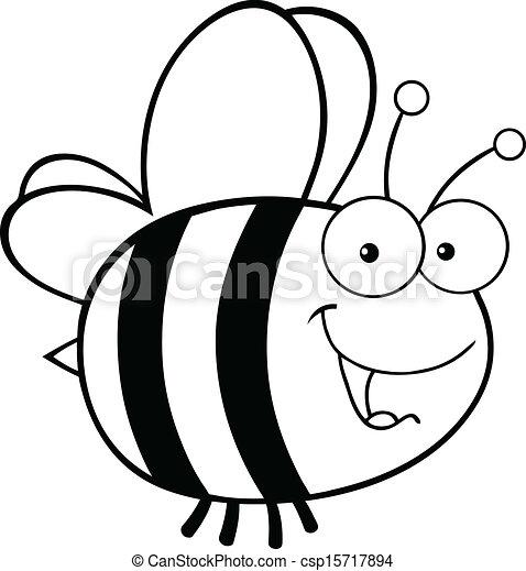 cute, hvid, sort, bi - csp15717894