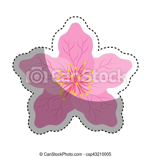cute japanese flower icon vector illustration design vector clipart rh canstockphoto com japanese vector japanese vector