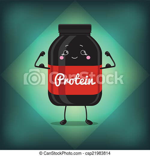 Cute Jar Sport Nutrition, Protein, Gainer, Black, Can Cap Bottle With Label. - csp21983814