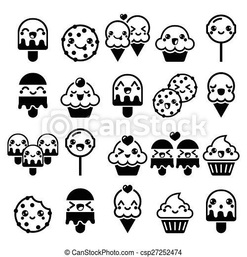 Cute Kawaii Food Characters   Csp27252474