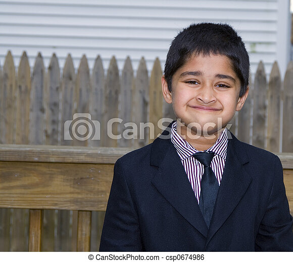 Cute Kid Formally Dressed A Handsome Indian Kid Formally Dressed In