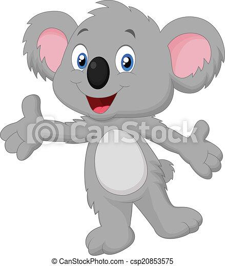 Cute koala cartoon posing  - csp20853575