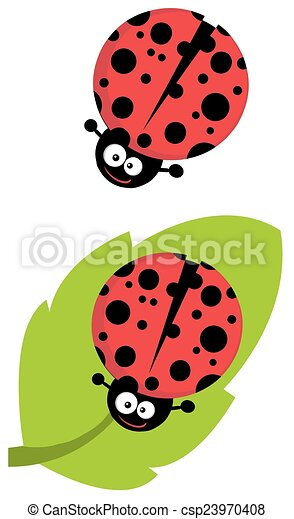 Cute Lady Bug Character. Collection - csp23970408