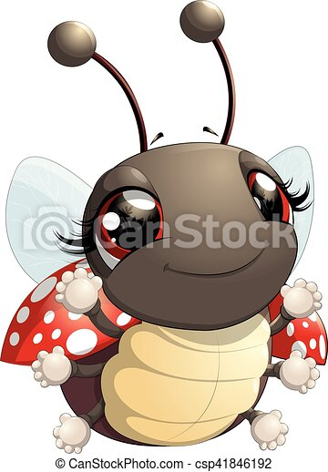 Cute Ladybug Cartoon   Csp41846192
