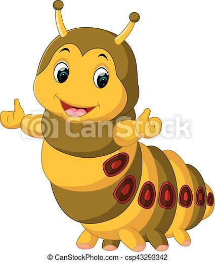 cute, lagarta, apresentando - csp43293342