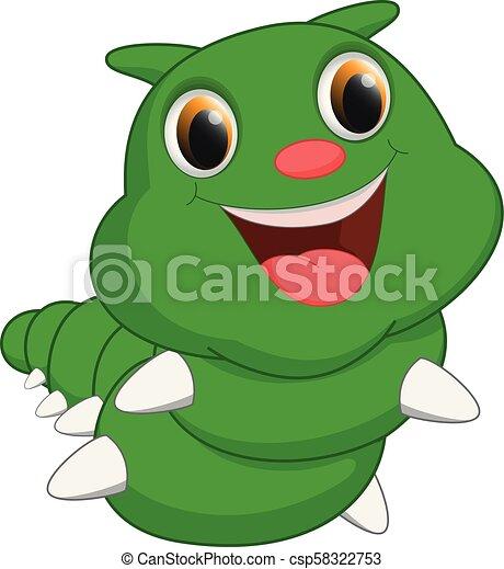 cute, lagarta, caricatura - csp58322753