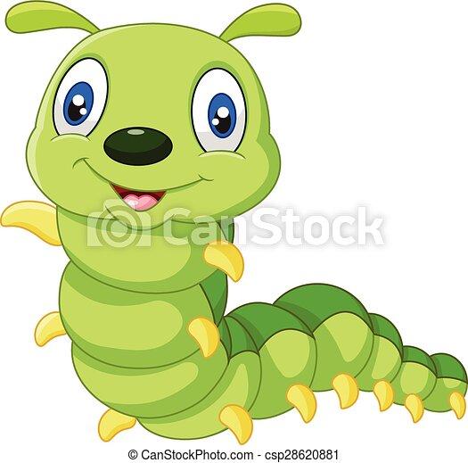 cute, lagarta, caricatura - csp28620881