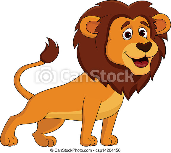 vector illustration of cute lion cartoon rh canstockphoto com cute lion clipart black and white free cute lion clipart