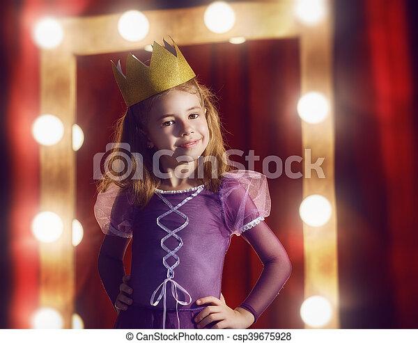 Cute little actress. - csp39675928