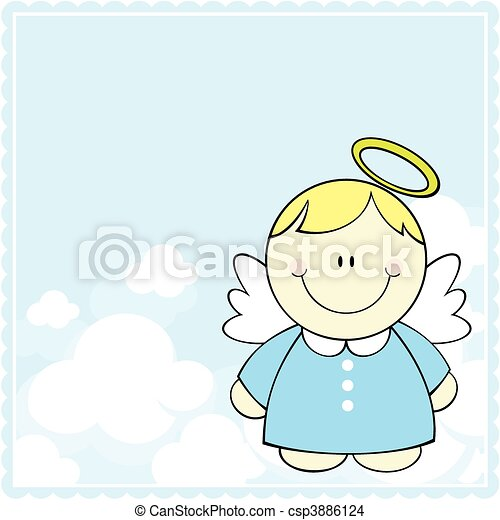 cute little angel - csp3886124