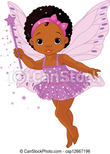 Cute little baby fairy - csp12667196