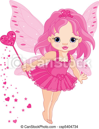 Cute little baby Love fairy - csp5404734