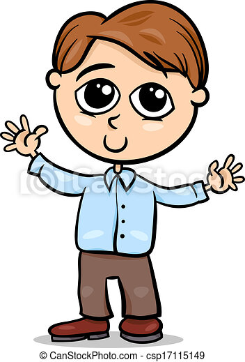 vector cute little boy cartoon illustration