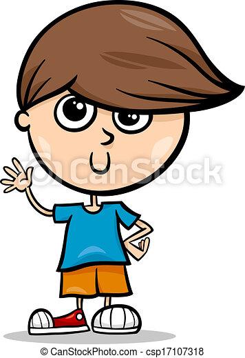 Cute little boy cartoon illustration. Cartoon illustration ...