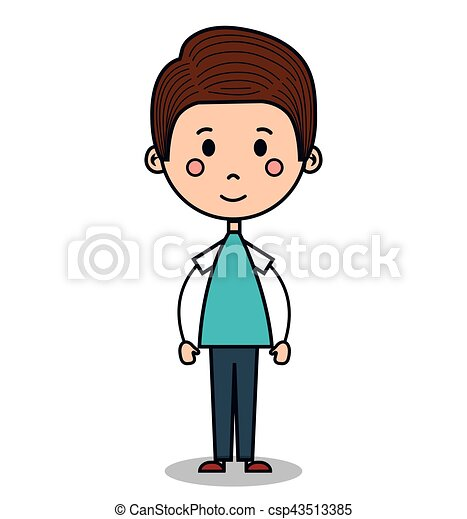 cute little boy drawing vector illustration design vector search rh canstockphoto com little boy fishing clipart little boy clipart free