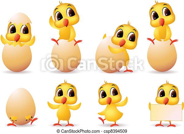 cute little chicks - csp8394509