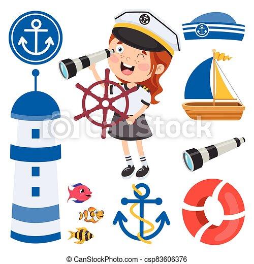 Illustration Of Seaman Concept - Download Free Vectors, Clipart Graphics &  Vector Art