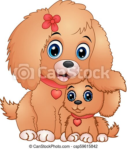 Image of: Illustration Cute Little Dogs Cartoon Csp59615842 Can Stock Photo Vector Illustration Of Cute Little Dogs Cartoon