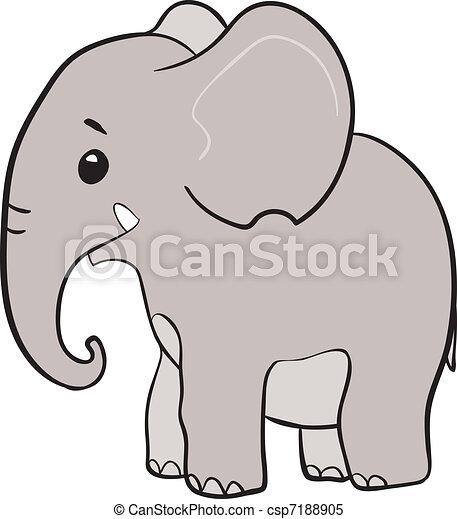 Cute little elephant  - csp7188905