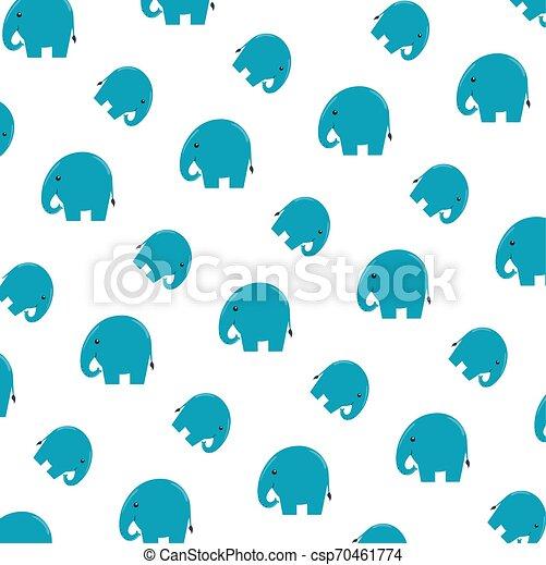 cute little elephants pattern background - csp70461774