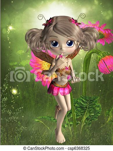 cute little fairy 3d render