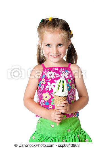 Cream ice Girl eating