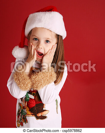 88ae5e8e472e Cute little girl in christmas wear. Adorable preschool girl wearing ...