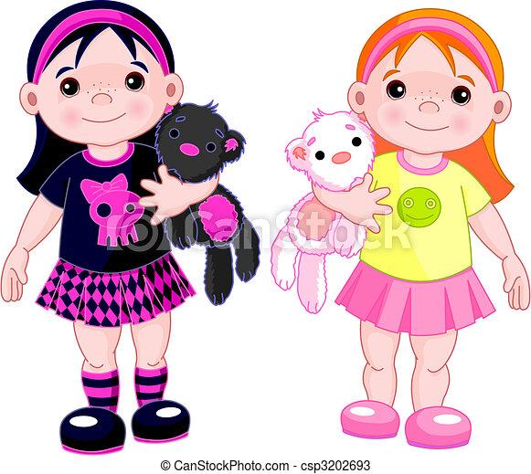 Cute little girls - csp3202693