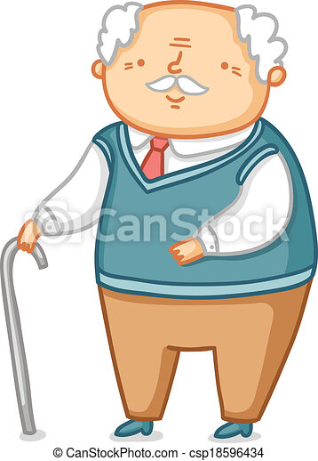 cute little grandpa vector illustration vectors search clip art rh canstockphoto com clip art grandparents and children clip art grandparents day