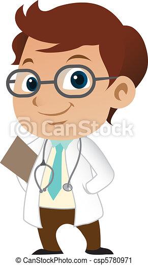 Cute little male doctor - csp5780971