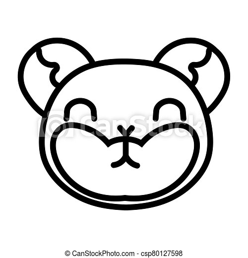cute little mouse animal line style - csp80127598