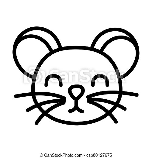 cute little mouse animal line style - csp80127675