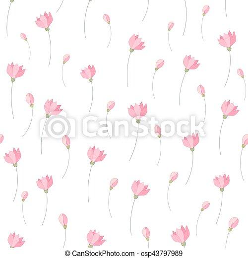 Cute little pink flowers seamless pattern background vector cute little pink flowers seamless pattern background vector mightylinksfo