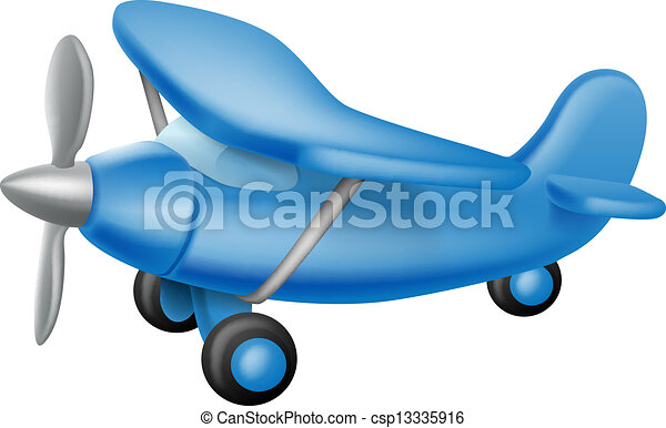 Cute Little Plane An Illustration Of A Cute Little Cartoon Blue Prop Plane Perhaps A Child Toy