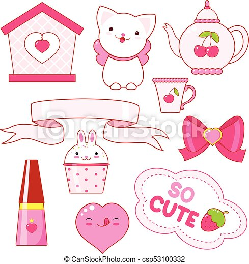 Cute little princess sticker collection - csp53100332