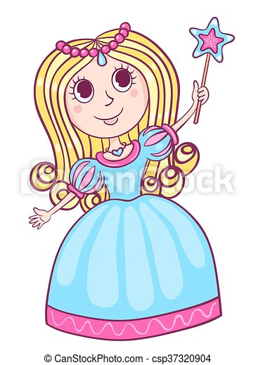 cute little princess cartoon children illustration