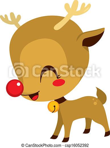 Cute Little Rudolph Reindeer - csp16052392
