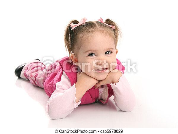 Cute little toddler girl - csp5978829