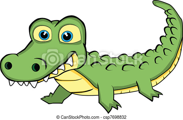 cute looking crocodile vector illustration of a cute vector rh canstockphoto com crocodile clipart black and white crocodile clipart image