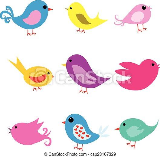 CUTE LOVE BIRDS - csp23167329