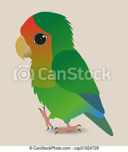 cute lovebird a very cute peach faced lovebird parrot vector rh canstockphoto co uk love bird clipart silhouette love bird cage clipart